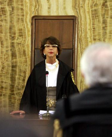 La lettura della sentenza del giudice Francesca Vitale (Enrico Brandi)
