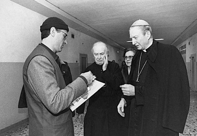 Il cardinale Carlo Maria Martini incontra Sergio Cusani a San Vittore