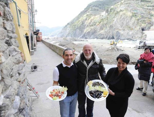 I ristoratori del Gambero Rosso che prepareranno il pranzo per il presidente Napolitano