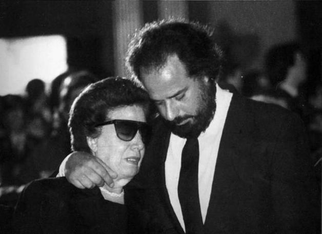 Il fratello di Francesca Morvillo, Alfredo, il giorno dei funerali (Foto Ap - Archivio Corriere)