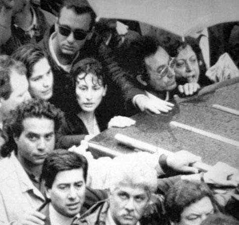 In primo piano Rosaria Costa, vedova dell'agente Vito Schifani (Foto Ansa - Archivio Corriere)