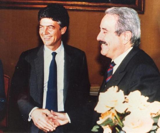 Con il ministro Martelli (Archivio Corriere)