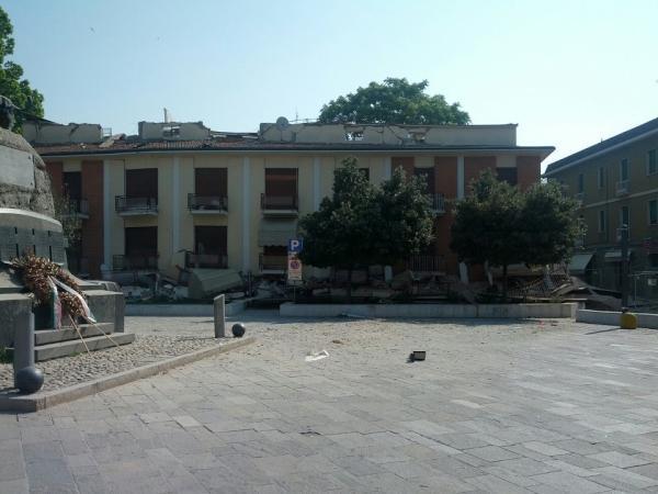 La piazza di Cavezzo
