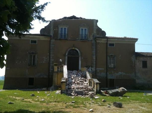A Mantova, crollo al Bugno Martino di San Benedetto (Stefano Scansani)