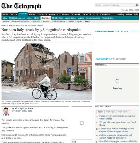 Sul britannico The Telegraph
