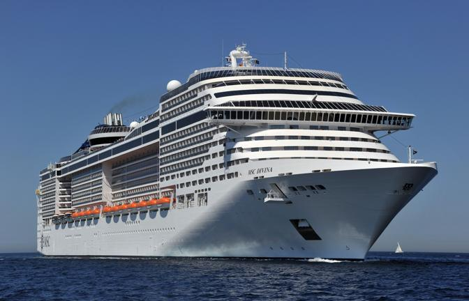 Msc Crociere a Marsiglia battezza la Divina, l&#39;ultima arrivata della flotta, con una cerimonia che avr come ospite Sophia Loren (Afp)  
