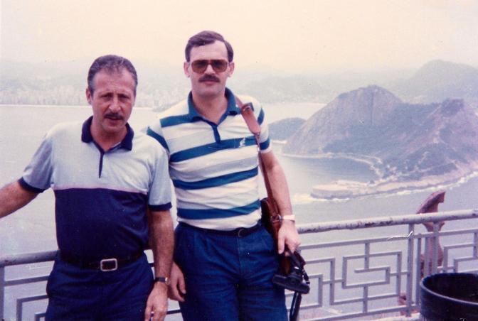 Durante una trasferta in America con Ninni Cassarà nell'85