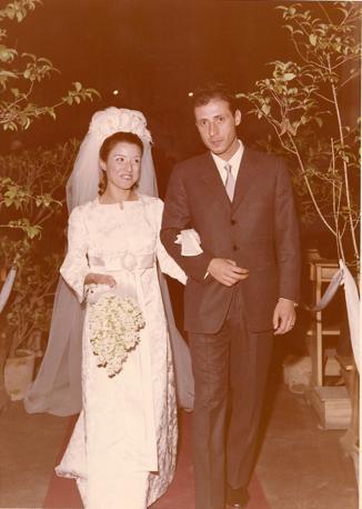 Il matrimonio con Agnese Piraino Luglio, giugno 1962