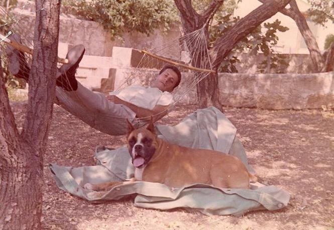 Un momento di relax a Trapani, primavera del 1971