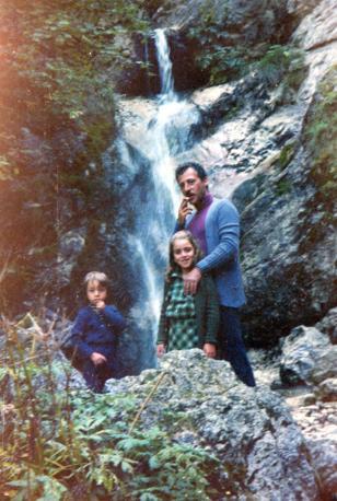 Parco degli Abruzzi con Lucia e Manfredi in uno scatto del 1970
