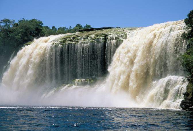 Venezuela: le cascate di El Sapito, nel parco nazionale di Canaima (Olycom)