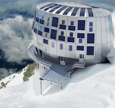 La struttura può resistere a venti di 240 chilometri orari