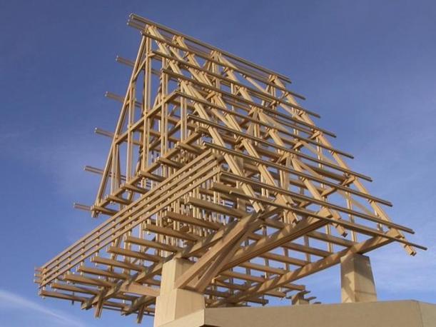 Le fasi della costruzione del rifugio Carlo Mollino .