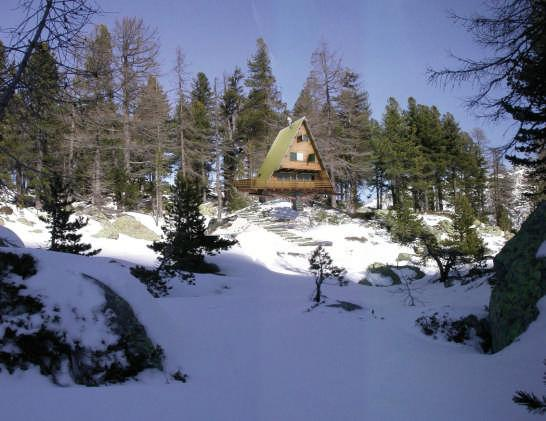 Una vista del rifugio Mollino