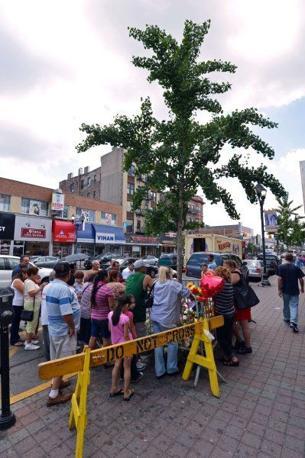 La polizia ha dovuto transennare l'albero su cui sarebbe apparsa la Madonna (che avrebbe anche parlato con una donna). Scettica la Chiesa (Afp/Honda)