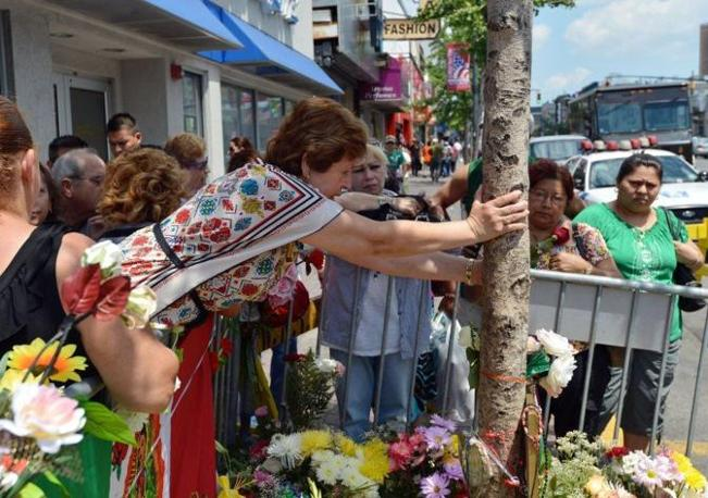 A West New York è forte la presenza di cittadini messicani: la Madonna di Guadalupe è proprio la Santa patrona del Messico (Afp/Honda