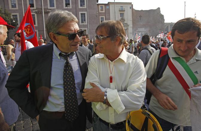 Oliviero Diliberto, segretario del Pdci  (Ansa/Di Meo)