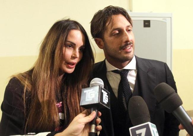Nan Moric e Fabrizio Corona (Ansa)