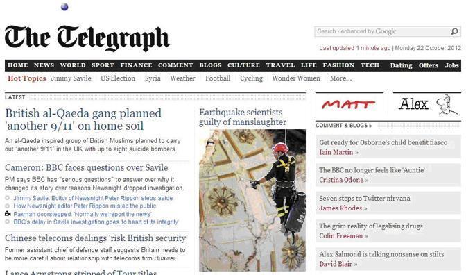 La notizia della condanna dei sette membri della commissione Grandi Rischi per il terremoto dell'Aquila è stata ripresa da molti siti di news stranieri