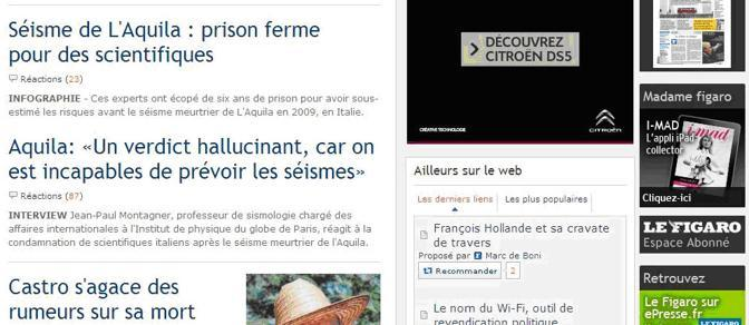 Le Figaro titola «Un verdetto allucinante»