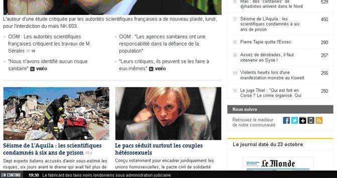 Anche Le Monde scrive della sentenza