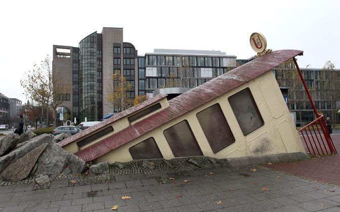 L'uscita della Bockenheimer Warte a Francoforte