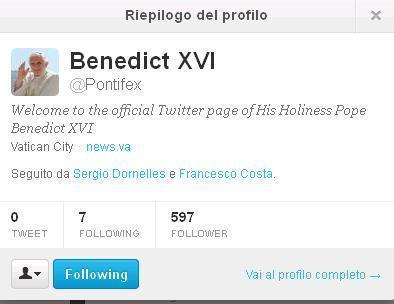 Benedetto XVI dal 15 dicembre