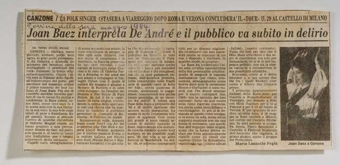 (1984 Rassegna Stampa- Articolo del Corriere della Sera)
