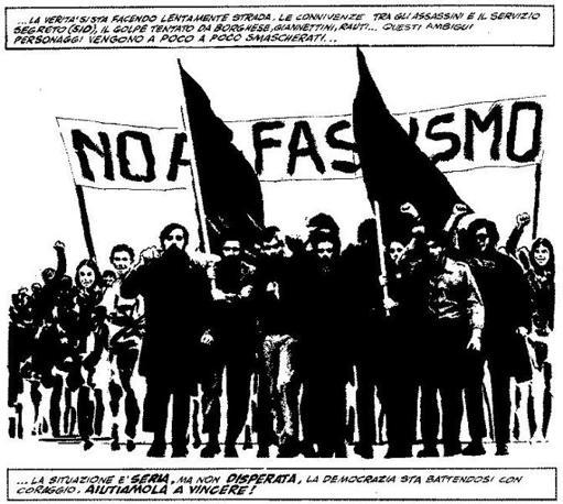 """""""Un fascio di bombe"""" di Milo Manara: manifestazione contro il fascismo"""