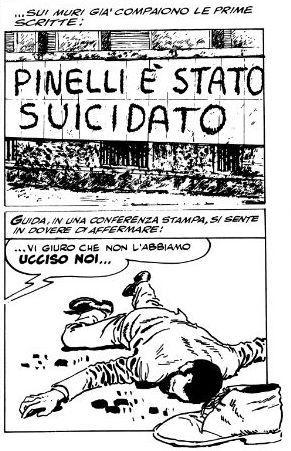 """""""Un fascio di bombe"""" di Milo Manara: la morte di Giuseppe Pinelli"""
