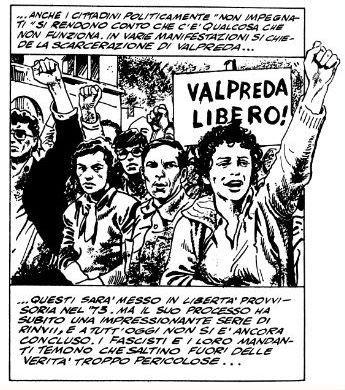 """""""Un fascio di bombe"""" di Milo Manara: manifestazione per Pietro Valpreda"""