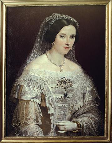 Mostra su «Vittorio Emanuele II, Il Re Galantuomo»:  Ritratto giovanile di Maria Adelaide (1822-1855) moglie di Vittorio Emanuele II, primo Re d'Italia
