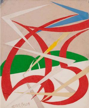 Giacomo Balla, Linea di velocità e paesaggio