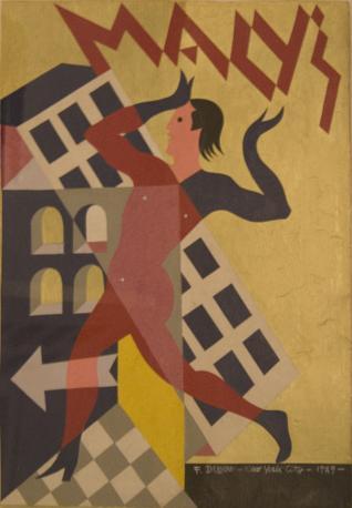 Fortunato Depero, collage per il manifesto di Macy?s a New York