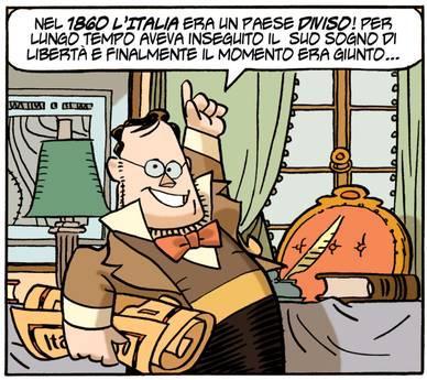 Cavour nell'interpretazione di Giorgio Cavazzano