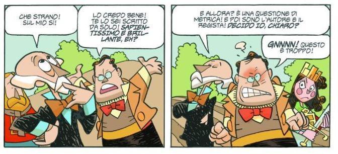 Cavour e Mazzini rivistati da Giorgio Cavazzano