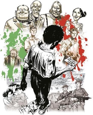 Copertina di Una comune avventura, secondo volume della collana 150 Unità d?Italia, in edicola dal 3 febbraio con Il Giornalino e Famiglia Cristiana