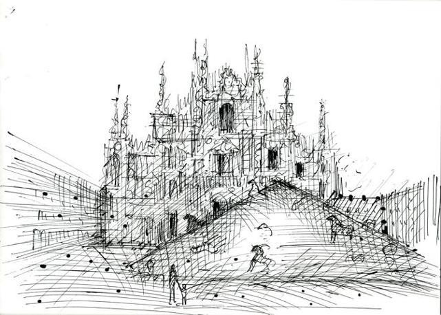 Un bozzetto preparatorio dell?installazione «Montagna del Sale», omaggio dell?artista al «Corriere»