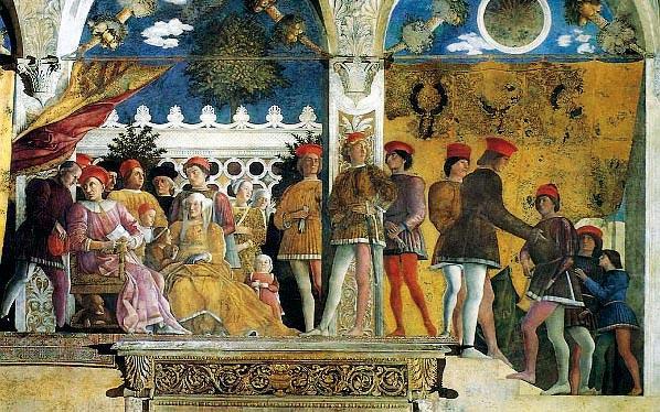 La pittura al servizio del potere opere a confronto for Camera degli sposi mantova
