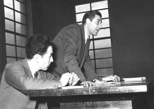 Primo convegno Amici e collaboratori del Mulino, 1954. Da sinistra: Pier Luigi Contessi, Federico Mancini