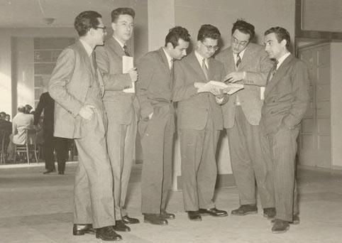 Da sinistra: Nicola Matteucci, Antonio Santucci, Carlo Augusto Viano, Pietro Rossi, Paolo Rossi, Alberto Pasquinelli