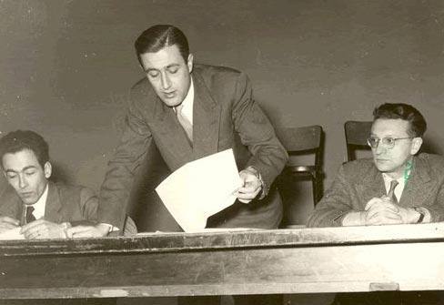 Da sinistra: Pier Luigi Contessi, Federico Mancini, Ezio Raimondi