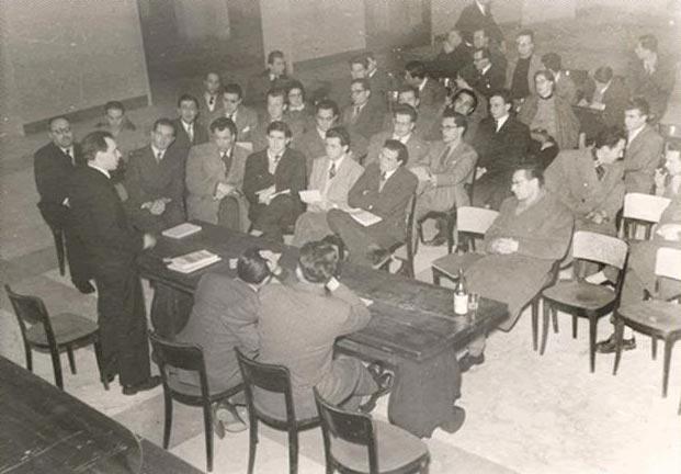 Primo convegno Amici e collaboratori del Mulino, tenutosi a Bologna il 9 e 10 gennaio 1954