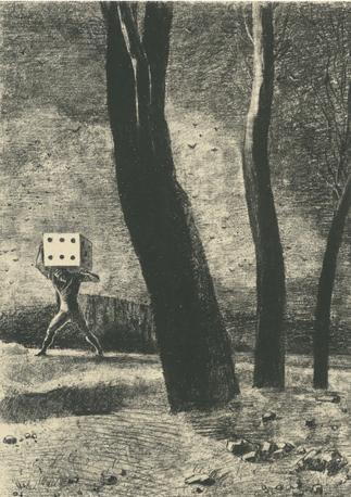 «Dans le Rêve / planche V : Le Joueur» - Odilon Redon- Paris, Bibliothèque nationale de France © Bnf - Album di dieci tavole e un frontespizio. Litografia. 1879