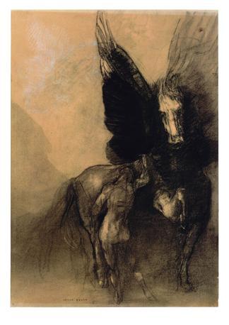 «Pégase et Bellérophon» - Odilon Redon - New York, The Metropolitan Museum of Art © The metropolitan museum of art, Dist. Rmn-Grand Palais / images of the MMA. Carboncino. 1898-1899