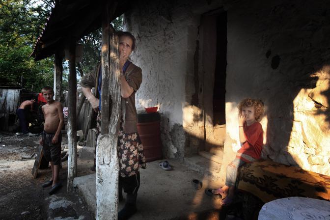 Una famiglia sulle montagne di Tropoja, nord dell?Albania