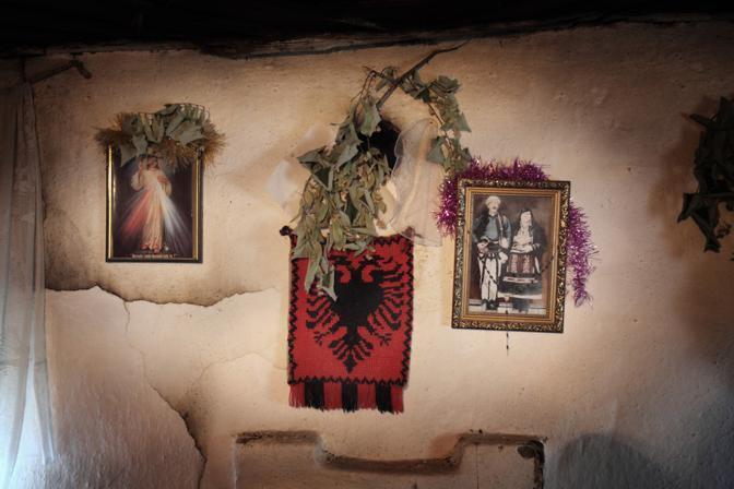 Interno di una casa di campagna nel nord dell?Albania