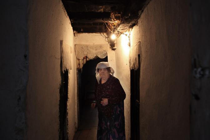 Una anziana donna albanese nel nord dell?Albania