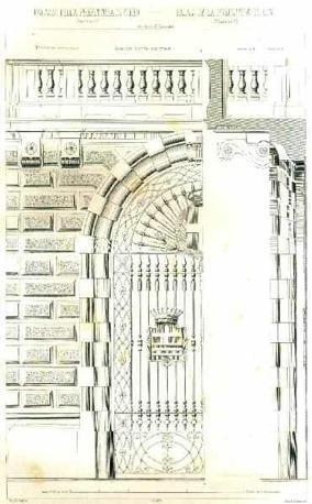 Pietro Carrera, Palazzo della Prefettura di Cuneo: dettaglio del portone centrale, 1885