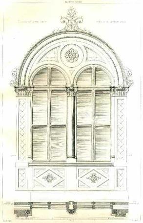 Pietro Carrera, Palazzo della Prefettura di Cuneo: dettaglio della finestra del primo piano, 1885